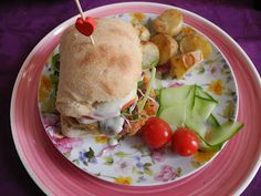 Apple-Sage-Chickpea Burger with Roast Potatoes