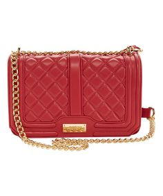 Another great find on #zulily! Cardinal Quilted Chain-Strap Crossbody Bag #zulilyfinds