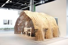 Built by Pablo Esteban Zamorano, Nacho Martí and Jacob Bek in , Germany This design manifested into a small meeting room-pavilion that explores complex geometries generated from plywood she...