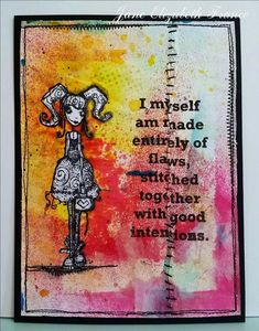 Artwork created by Jane France using rubber stamps designed by Daniel Torrente for Stampotique Originals