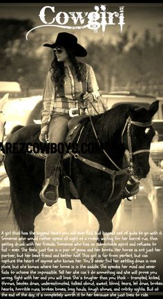 Reminds me of Dreamer. Maybe one day when I dye my hair brown. Cowgirls.