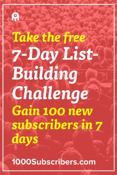 Trying to figure out how to grow you mailing list? This 7-day challenge will present you with 7 awesome, list-building techniques to boost your email list.
