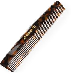 A good comb will last years, and this D R Harris version has been built to stand the test of time. Classically detailed with a tortoiseshell acetate body and the printed emblem of the English company, it features two rows of teeth at different widths to tame any mane.