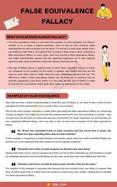False Equivalence Fallacy English Grammar Rules, Good Grammar, English Writing Skills, English Lessons, Teaching English, Learn English, English Language, Writing Words, Writing Advice