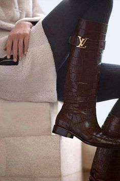 f828c1f03e7 Louis Vuitton major crocodile leather boots for fall. If it s Vuitton