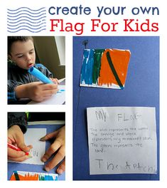 Learn about the American Flag and it's symbolism by designing your own flag. Great for 4th of July!