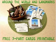 Free Around the World and Landmarks 3-part Cards Printable and Lessons