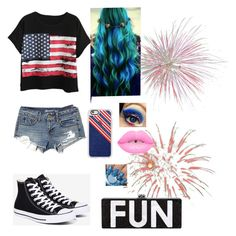 """America"" by lol22-2000 ❤ liked on Polyvore featuring Chicnova Fashion, American Eagle Outfitters, Casetify and Converse"