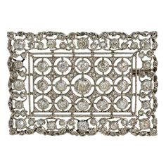 Buccellati  Platinum and Diamond Brooch   From a unique collection of vintage brooches at http://www.1stdibs.com/jewelry/brooches/brooches/