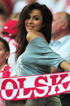 A Poland fan enjoys the atmopshere ahead of the UEFA EURO 2012