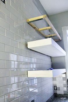 DIY Floating Open Shelves