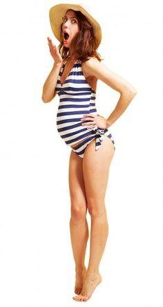 Dans le style rétro chic, on veut le maillot de bain grossesse Envie de Fraises ! On A-DO-RE !