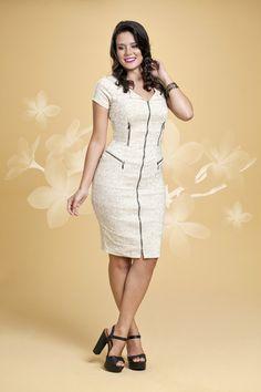 Vestido Estampado neutro - Dress - Bella Herança - Moda Evangélica e Roupa Evangélica: Bela Loba
