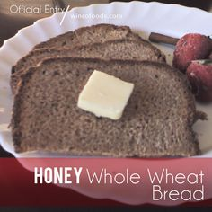 Honey Whole Wheat Bread Recipe. What is better than homemade bread? =)