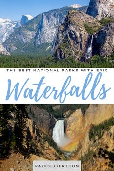 Looking to see some waterfalls on your next park trip? Check out these national park waterfalls to see amazing cascades that will take your breath away. Best Swimming, Swimming Holes, Usa Travel, Travel Tips, Hiking Usa, Waterfall Hikes, National Parks Usa, Outdoor Woman, Hot Springs