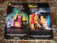 Demonic Toys / Dollman vs. Demonic Toys (VHS, 1992) OOP Paramount Full Moon Lot!