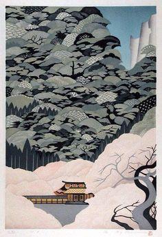 Wonderful woodblock print by Ray Morimura (b. 1948, Tokyo) #art