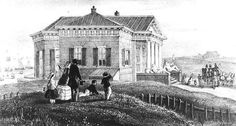 Hendrik Wilhelmus Last (1817 - 1873) Het koninklijk paviljoen (later: Paviljoen von Wied) 1855. ..... Het Paviljoen werd door koning Willem I gebouwd met het doel om voor zijne Gemalin die veel aan slapeloosheid leed, genezing daarvan te vinden door een verblijf in de onmiddellijke nabijheid van de zee. De geheele inrichting van het gebouw duit er op, dat het de bedoeling was slechts een pied à terre te maken voor een bezoek op den dag. ....