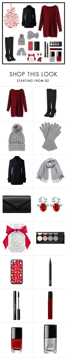 """Happy Holidays!"" by sweetsassyandsarcastic ❤ liked on Polyvore featuring Chicwish, Eugenia Kim, Johnstons, Lands' End, Vero Moda, Balenciaga, Victoria's Secret, Witchery, NARS Cosmetics and NYX"