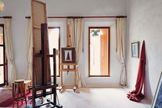 The painting studio of the late Chilean artist Claudio Bravo