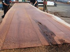 A beautifully milled redwood slab that was originally reclaimed from a deconstruction project in Virginia.