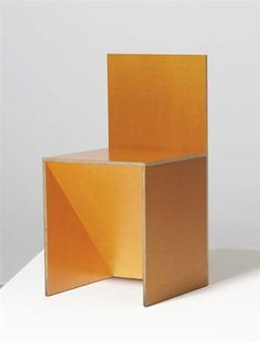 "256  DONALD JUDD  ""Chair #84/85,"" style no. 7, 1997"