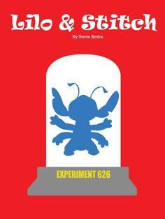 A minimalist poster based on the movie Lilo & Stitch.