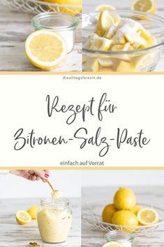 """Rezept für Zitronen-Salz-Paste. Nur zwei Zutaten sorgen dafür, dass du immer """"Zitronensaft"""" im Haus hast Cantaloupe, Fruit, Recipes, Pesto, Dips, Food, Juice, Simple, Food Food"""