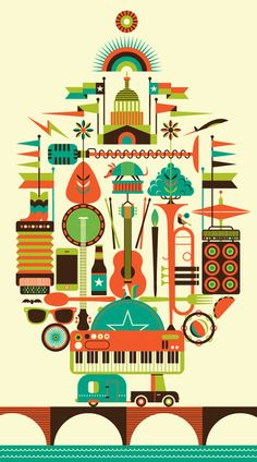Beautiful Austin City Limits Music Festival branding by @Tiana DeMa'