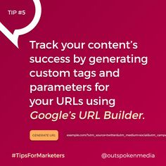 Know how well your content performs by using UTM codes Marketing Tools, Digital Marketing, Custom Tags, Coding, Success, Social Media, Content, Tips, Personalized Labels