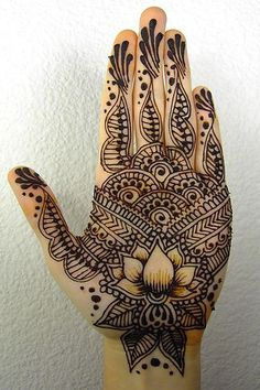 Hand with Lotus ! Hamsa is symbol of protection, Lotus is symbol of purity ! MAGGYCALHOUN.COM