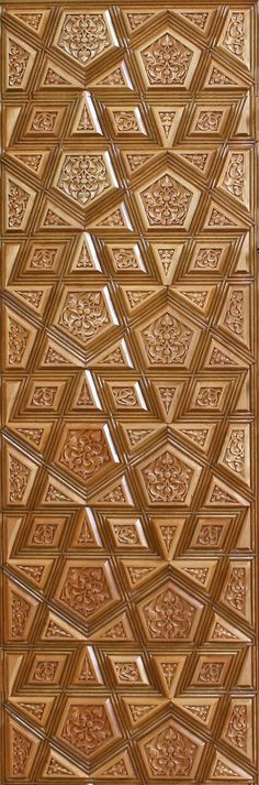 Kündekari Mosque Architecture, Art And Architecture, Architecture Details, Arabesque, Door Design, Design Art, Islamic Patterns, Arabic Pattern, Ceiling Treatments