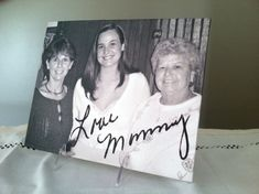 ACTUAL HANDWRITING on Canvas, Memorial, mother to daughter, love mommy, old note, handwritten letter, by HandwrittenSentiment, $30.00