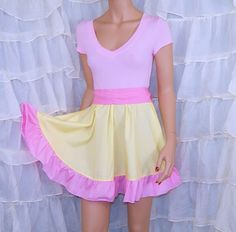 My Little Pony Pink and Yellow FlutterShy Summer Dress Cosplay Costume Adult Large / Plus MTCoffinz- Ready to Ship