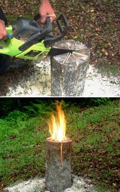 Swedish Log Candle