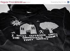 Addicted to gaming funny geek hoodie mens video game by geekthings, $28.49