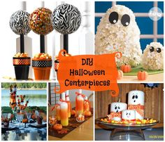 DIY Halloween Centerpieces. Lots of fun & new ideas easy too.