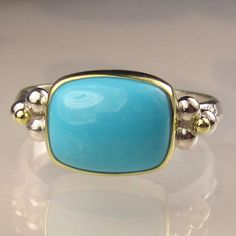 Sleeping Beauty Turquoise Ring  18k Gold and by JanishJewels, $168.00