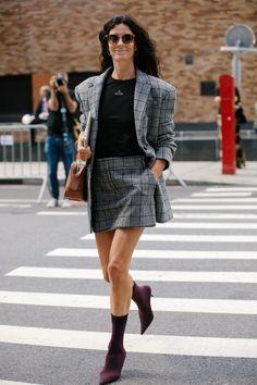 Skirt suit.