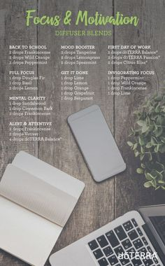 doTERRA Essential Oils Focus and Motivation Diffuser Blends #Essentialoildiffusers