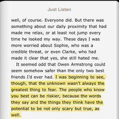 Just Listen by Sarah Dessen | Quotes | Pinterest | Literature ...
