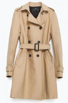 Zara Water Repellent Cotton Raincoat, £59.99