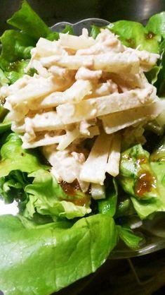 簡単5分ヤーコンのツナすりごまサラダ