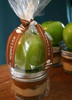 Click pic for 40 Easter Gifts in a Jar - Apple with Caramel Cream Cheese Dip  - Homemade Gifts in a Jar