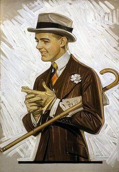 Kuppenheimer Clothing Ad  byJoseph Christian Leyendecker