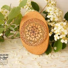 Be Your Own Boss, Flower Of Life, Hand Carved, Brooch, The Originals, Link, Flowers, Handmade, Hand Made