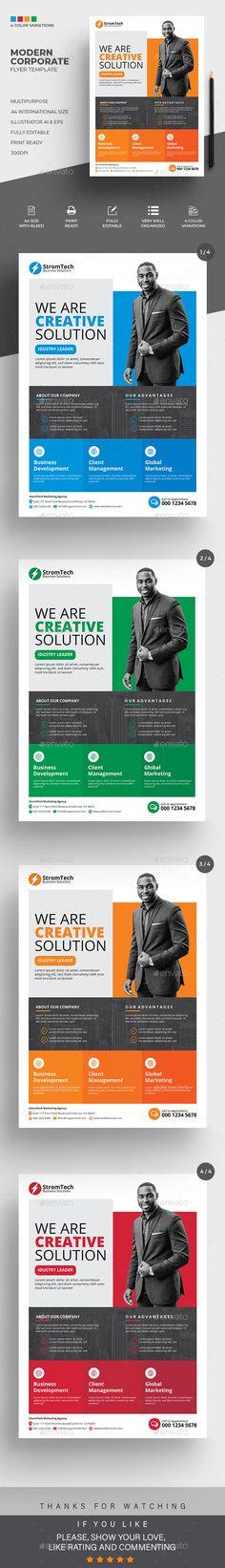 Corporate Flyer. Customizable business flyer template. #a4 #abstract #AbstractFlyer #advert #advertisement #agency #AgencyFlyer #agent #business #clean #CleanDesign #ConferenceFlyer #corporate #creative #editable #FlyerTemplate #green #GreenFlyer #GroupStudy #IllustratorFlyer #marketing #MeetupFlyer #MinimalistFlyer #multipurpose Business Flyer Templates, Corporate Flyer, A4, In This Moment, Marketing, Abstract, Creative, Green, Summary