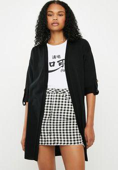 02dc9f1a7a2fe Side slit cardigan - black. Black Cardigan, Cardigans, Knitwear, Knits,  Knitting