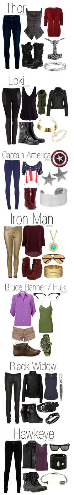 Avengers fashion I think I could make a better avengers wardrobe though