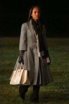 oversized houndstooth coat